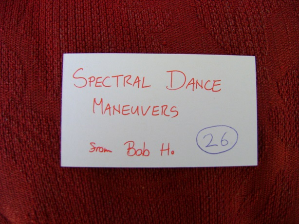 Spectral Dance Maneuvers