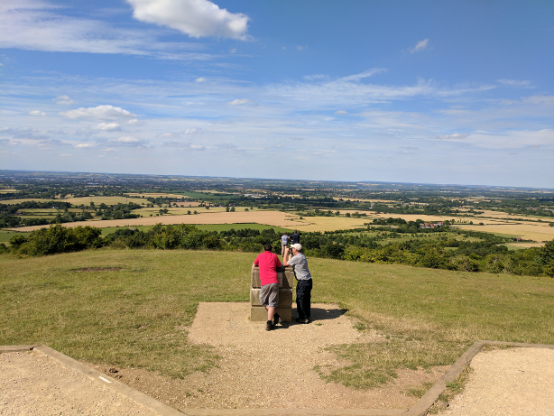 View from the top of Coombe Hill, towards Aylesbury